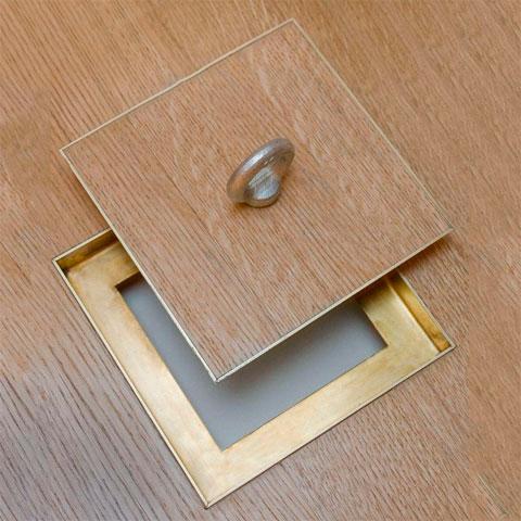 как сделать люк в полу с ламинатом
